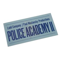 Police Academy II - Dashboard Parking Pass - IV155