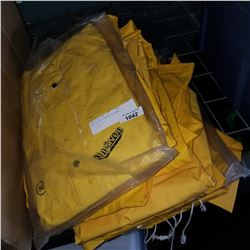 BOX OF YELLOW RAIN GEAR