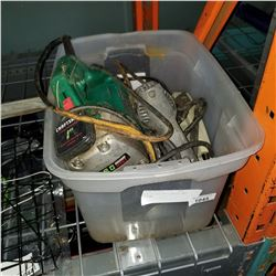 BIN OF ELECTRIC DRILLS AND JIGSAW