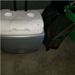 IGLOO COOLER AND ANTLER TRAVEL SUIT BAG