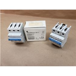 Lot of 2 Allen-Bradley 1492-SPM3C010 Ser. D Circuit Breaker