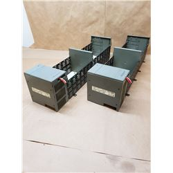 (2) Allen-Bradley 1746-P2 Power Supply with 1746-A13 Slot Rack