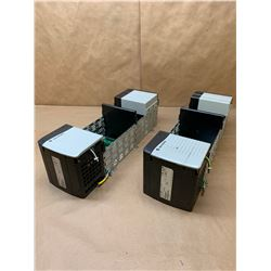 (2) Allen-Bradley 1756-PA75 ControlLogix AC Power Supply w/ 1756-A10 ControlLogix 10 Slot Chassis