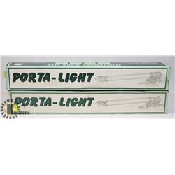 LOT OF TWO PORTA-LIGHT FLUORESCENT WORK LIGHTS