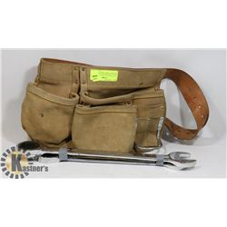 KUNY CARPENTER POUCH WITH RATCHET COMBO WRENCHES