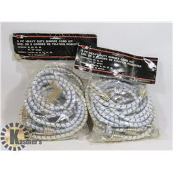 TWO 6PC HEAVY DUTY BUNGEE CORD KITS