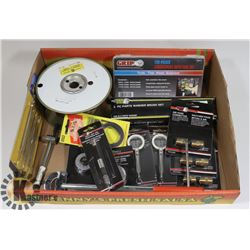FLAT OF ASSORTED TOOLS INCL AUTO FUSE KIT, AIR