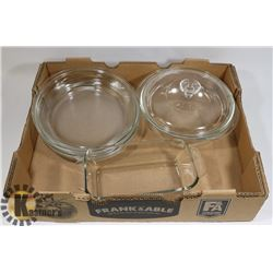 FLAT OF PYREX DISHES