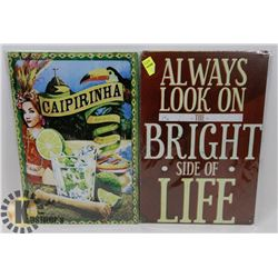 """LOT OF TWO NEW! METAL SIGNS 8"""" X 12"""""""