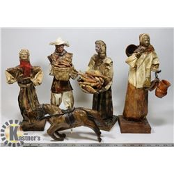 BOX OF MEXICAN PAPER MACHE FOLK ART