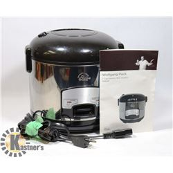 WOLFGANG PUCK 7C RICE COOKER + INSTRUCTIONS
