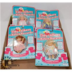 SET OF 4 TINY TALKER DOLLS