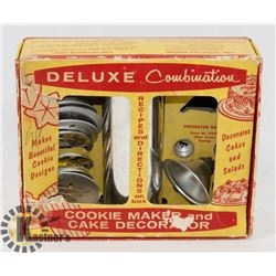 VINTAGE DELUXE COMBINATION COOKIE MAKER AND