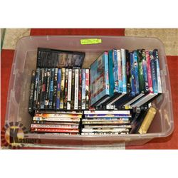 BIN WITH OVER 50 DVD'S