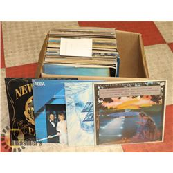 BOX OF 33 LP RECORDS