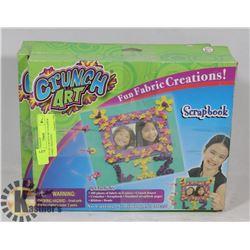 LOT OF 2 CRUNCH ART SCRAPBOOK FABRIC CREATIONS