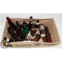 BOX OF ASSORTED VINTAGE BOTTLES