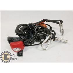 LOT OF PELICAN HEADLAMP AND SQUIDS