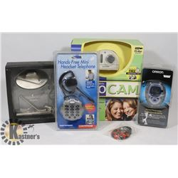 ESTATE BOX WITH PC VIDEO CAM, PEDOMETER, HANDS