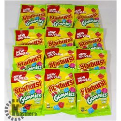 CASE OF STARBURST GUMMIES SOURS (12 X 164G)