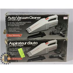 LOT OF 2 AUTO VACUUMS.