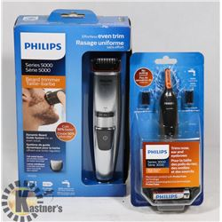 BAG WITH PHILIPS RAZOR AND TRIMMER