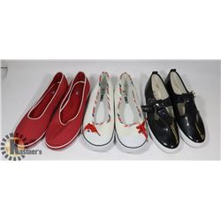 3 PAIRS LADIES SHOES - NEW