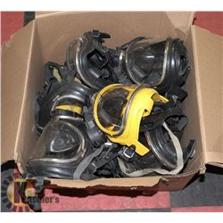 BOX OF DRAGER MADE IN GERMANY HAZ MASKS W/ RADIOS