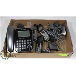PANASONIC PHONE SYSTEM 4 PHONES, 3 CORDLESS &