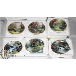 12 MONTH THOMAS KINCADE COLLECTIBLE PLATES W/