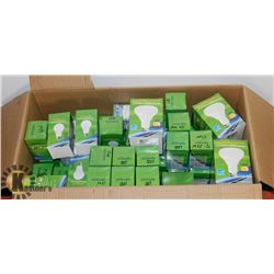 BOX OF 50 PLUS LIGHT BULBS INCLUDING LED'S AND