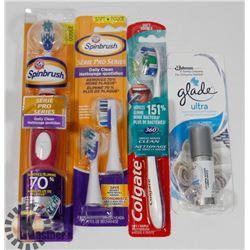 BAG OF TOOTHBRUSHES AND MORE