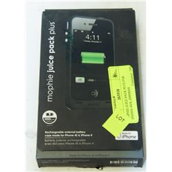 MOPHIE JUICE PACK PLUS FOR IPHONE 4S/4, 2000MAH.