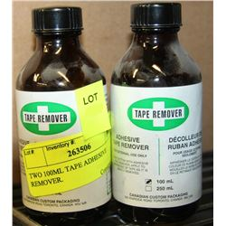 TWO 100ML TAPE ADHESIVE REMOVER.