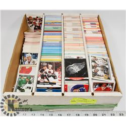 BOX OF ASSORTED HOCKEY CARDS, SOCCER CARDS,