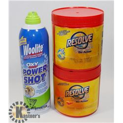 BAG OF RESOLVE AND WOOLITE POWER SHOT