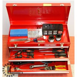 CRAFTSMAN 3 DRAWER TOOL BOX WITH CONTENTS