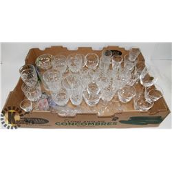 LOT OF ASSORTED CRYSTAL/GLASS GLASSES