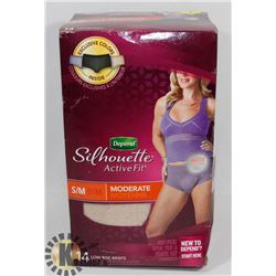 DEPEND ACTIVE FIT SIZE MEDIUM LOW RISE BRIEFS