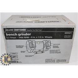 NEW UNOPENED CRAFTSMAN 3400 RPM BENCH GRINDER