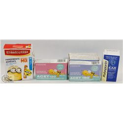 BAG OF ASSORTED KIDS SUPPOSITORIES AND MORE