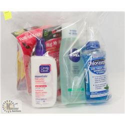 BAG OF MIXED PRODUCT INCLUDING TONER, ACNE