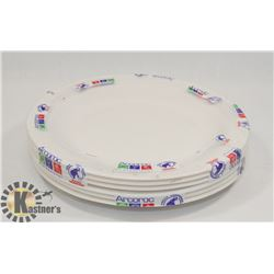 """PKG OF 6 - OPAL 9"""" IVORY PLATE, MADE IN FRANCE"""