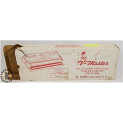 VINTAGE V-MASTER CIGARETTE MACHINE & ROLLING PAPER
