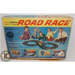 VINTAGE ELDON DELUXE ROAD RACE SLOT CAR SET-