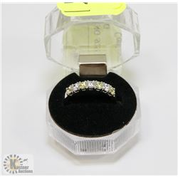 #6-CUBIC ZIRCONIA RING .925 STERLING SILVER RING