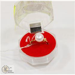 #76-FRESH WATER PEARL WHITE RING