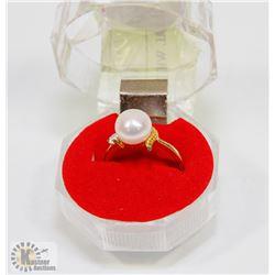 #78-FRESH WATER PEARL WHITE RING