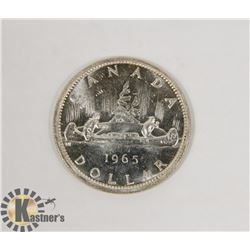 1965 CANADIAN SILVER DOLLAR COIN.