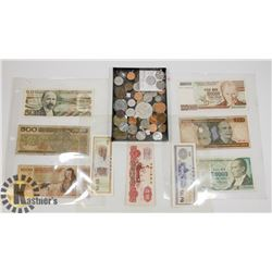 LOT OF ASSORTED WORLD CURRENCY
